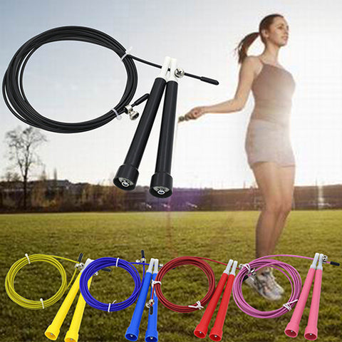 new2015 Latest Speed Wire Skipping Adjustable Jump Rope Fitness Exercise Cardio Crossfit Sport  6W95