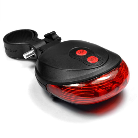 2 Laser + 5 LED Flashing Lamp Rear Light Cycling Bicycle Bike