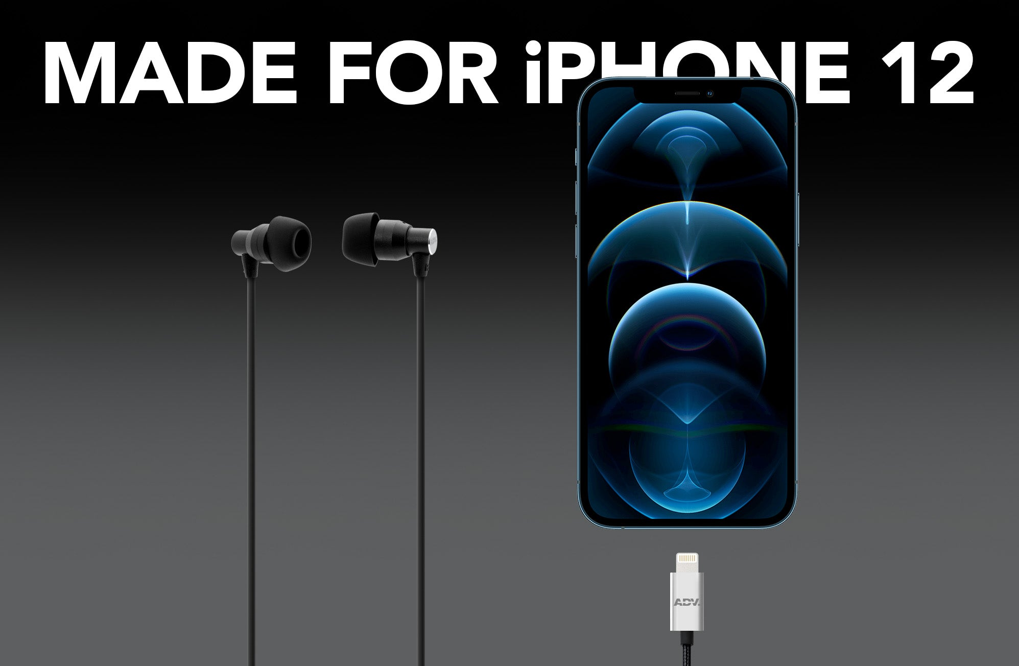 ADV. 911 Lightning Earphones Made for iPhone 12