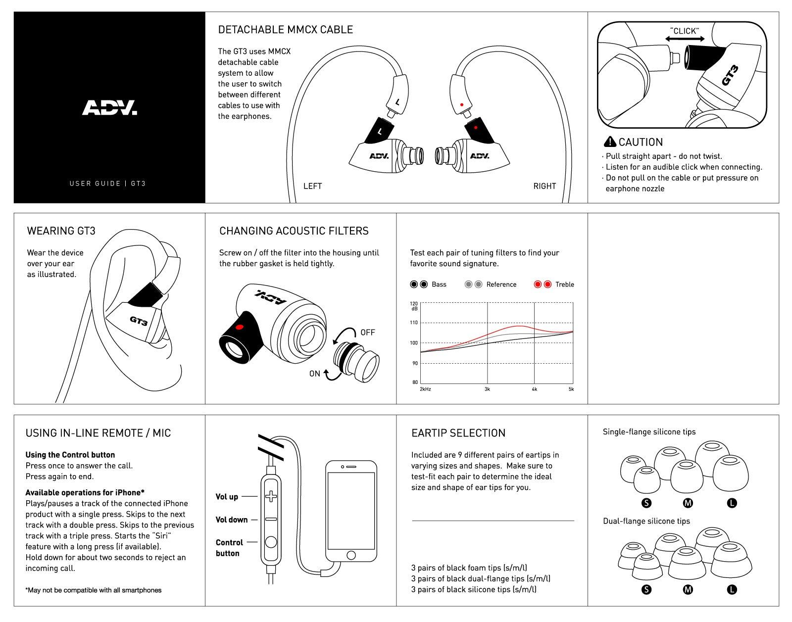 ADV.GT3 Earphones User Guide