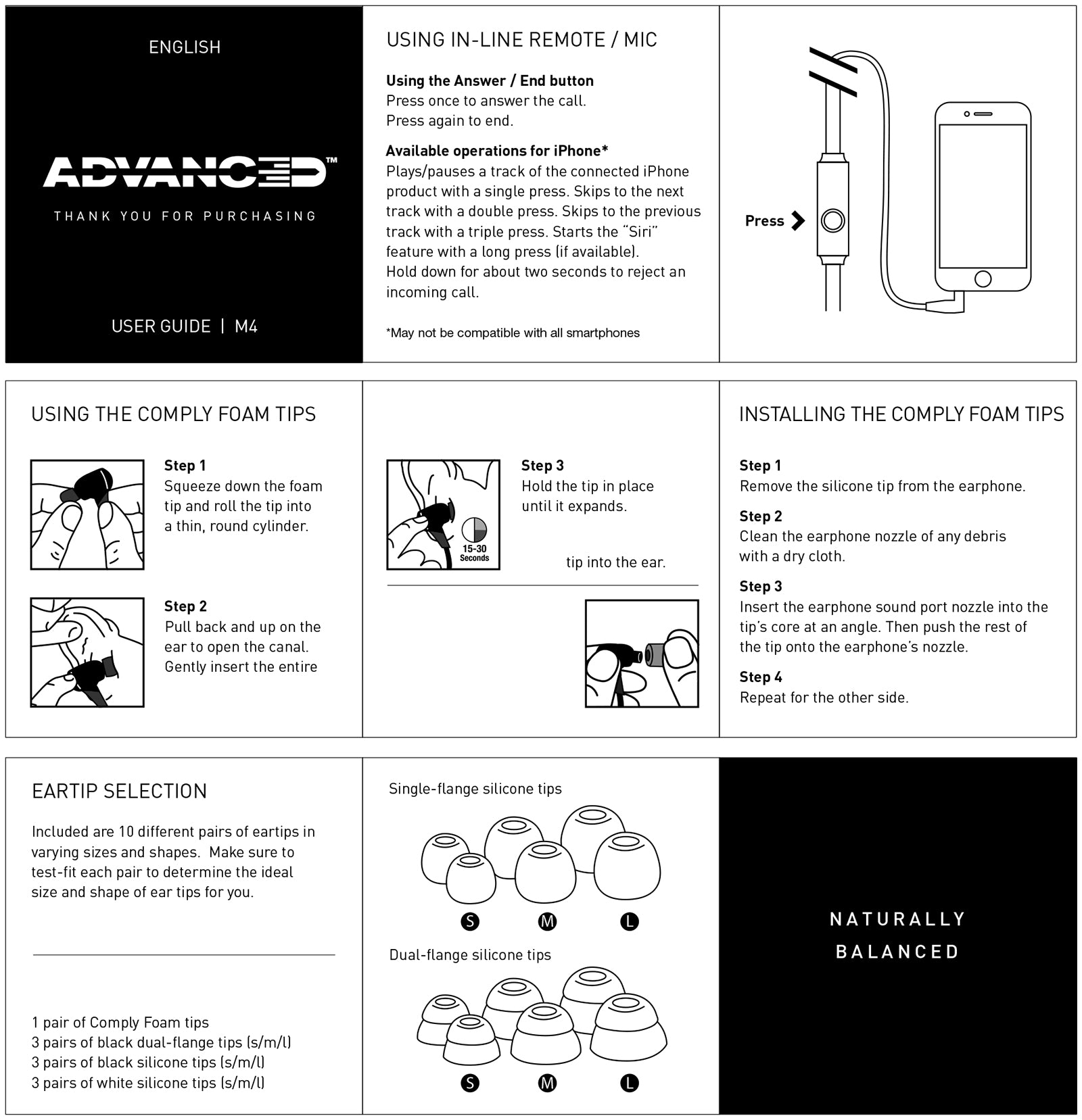 Advanced M4 Earphones User Guide