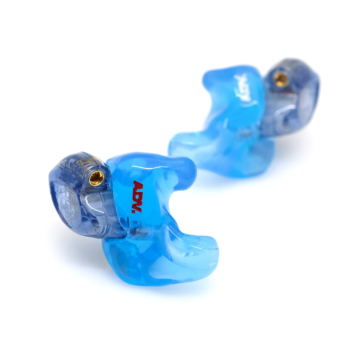 ADV. Eartune Fidelity Custom-fit Ear tips for Model 3 BA2 Blue