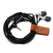 ADV. Genuine Leather Earphone Cable Tie IEM Organizer