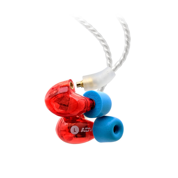 ADV. Model 3 BA3 Professional Triple-driver In-ear Monitors for Musicians Pro Audio Studio Recording WFH Work From Home