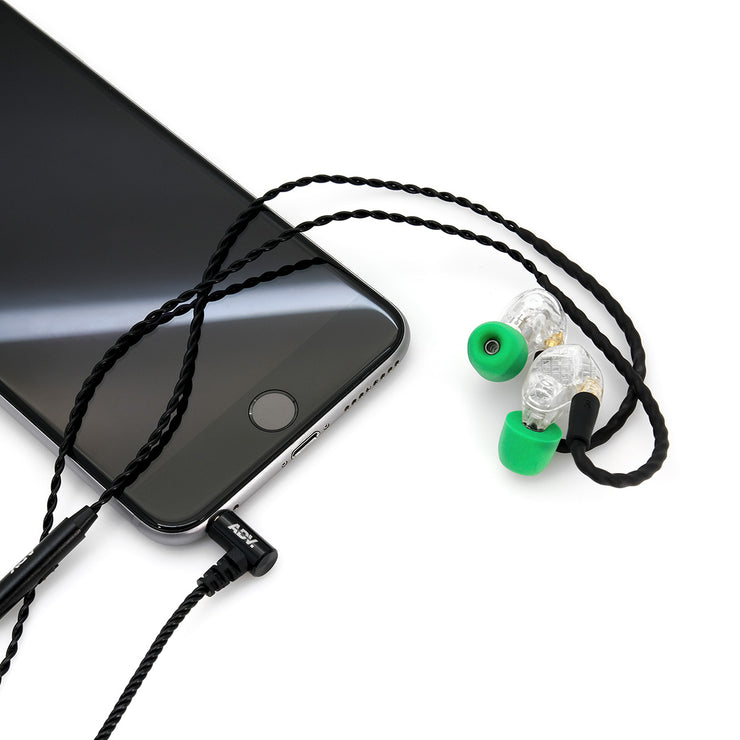 ADV. Model 3 Mobile Edition MMCX Hi-res In-ear Monitors Musician Earphones with In-line Remote Microphone