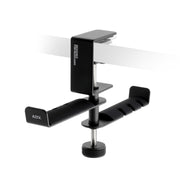 ADV. Dual Suspension Headphone Hanger Table Desk Mount Black