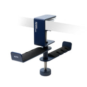 ADV. Dual Suspension Headphone Hanger Table Desk Mount Blue