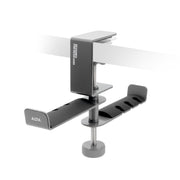 ADV. Dual Suspension Headphone Hanger Table Desk Mount Grey