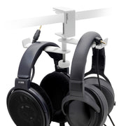 ADV. Dual Suspension Headphone Hanger Table Desk Mount White