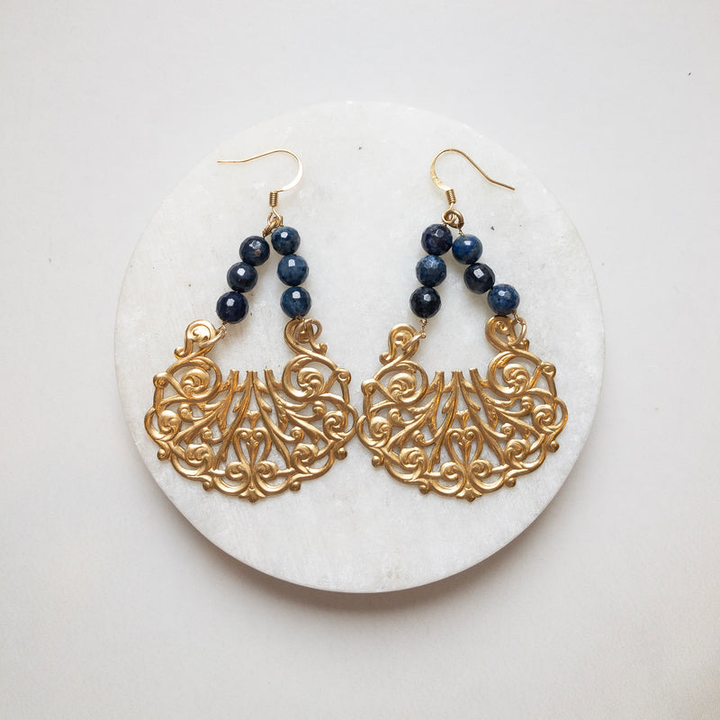 French chandler earrings
