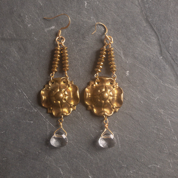 French drop earrings