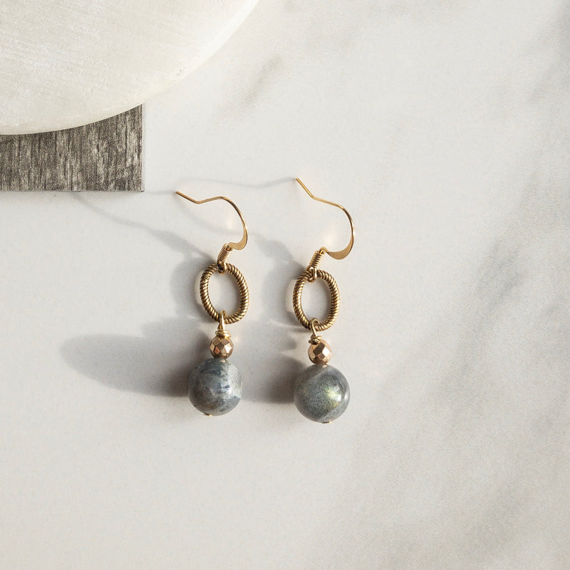 Grey drop Earrings