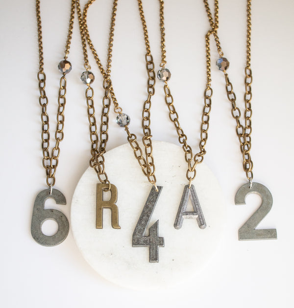 Long necklace French numbers