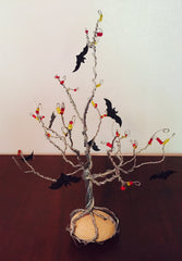 Wire Tree Sculpture, Fall Tree, Bats, Halloween, ARTBOX, CRAFT BOX,