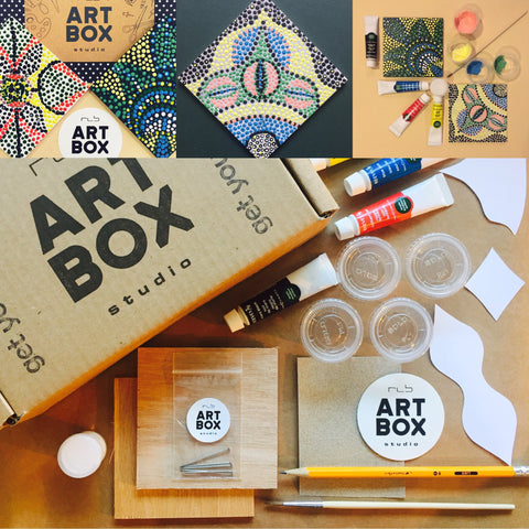 Dot Painting, Artist Kit, Painting Kit, Craft Box, Doodle, Art, Art Project, Subscription, Subscribe, Painting, Acrylic Paint, Past Boxes, Buy Art, Art Supplies, Create, Artsy, ARTBOX, RLB ARTBOX STUDIO