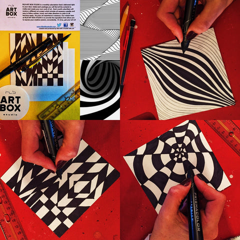 ART BOX, ART, ART PROJECT, DIY, RLB ARTBOX STUDIO, OPTICAL ART, ILLUSIONS, ART ED, ART TEACHER