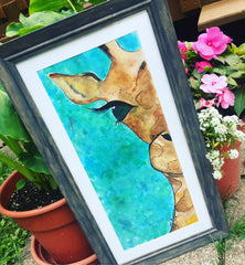 Watercolor, Watercolor Painting, Giraffe Painting, Work of art, RLB ARTBOX Studio, Art Projects, Create, Inspiration, Art, Erie PA