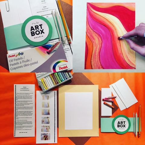 DIY, ART PROJECT, ART, CREATE, OIL PASTELS, ART SUBSCRIPTION, ERIE, PA