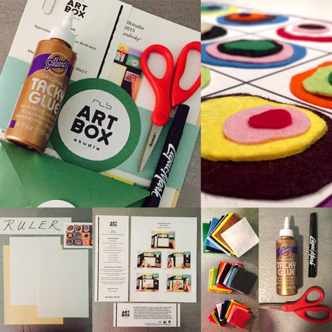 DIY, ART PROJECT, ART, CREATE, ERIE, PA, ART SUBSCRIPTION, KANDINSKY, ART ED