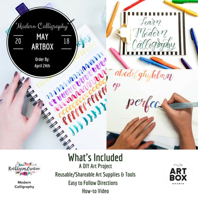 Artist Series, Modern Calligraphy, Art Kit, Learn how, Calligraphy, Artist, Create, Art Subscription, Art Feature, Collaboration, Rothbyrnscreative, Create, Creativity, DIY Calligraphy, DIY art Project, Do it yourself, RLB ARTBOX Studio, ART BOX, Craft