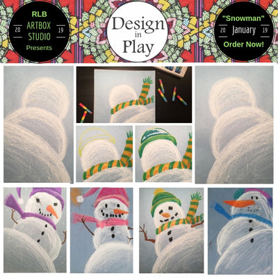 Snowman, Snowman Art, Snowmen, Do you want to build a snowman, art project, art kit, winter project, snow, rlbartboxstudio, craft kit, craft box, crafting, art making, Erie PA