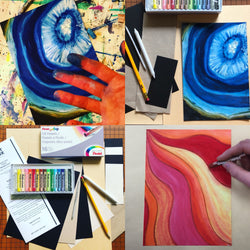 DIY Geode Art with Oil Pastels - RLB ARTBOX STUDIO