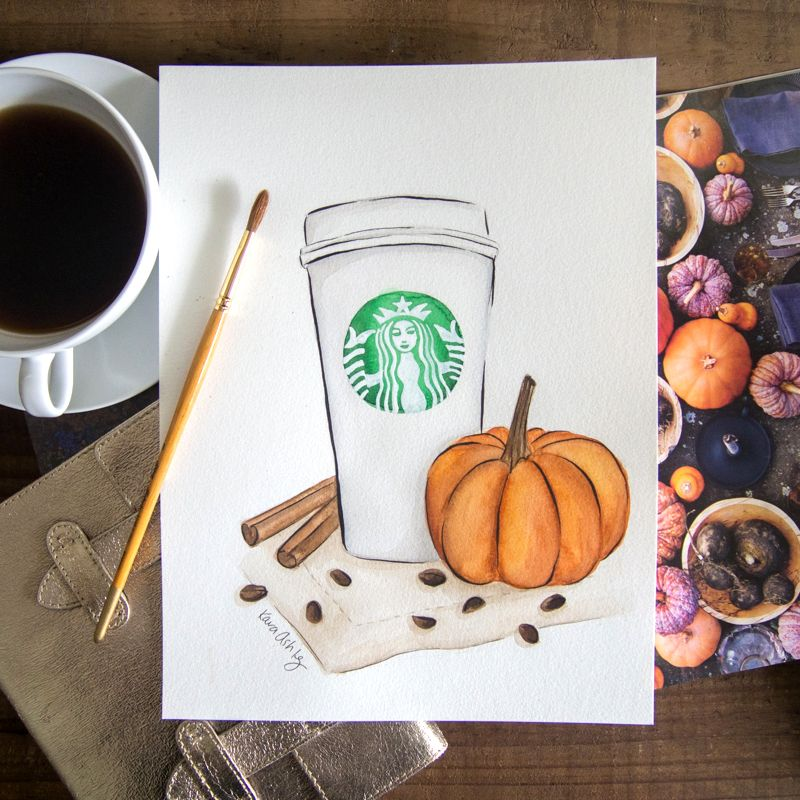 "DIY Fall Pastel Art ""Pumpkin Spice"" - RLB ARTBOX STUDIO"