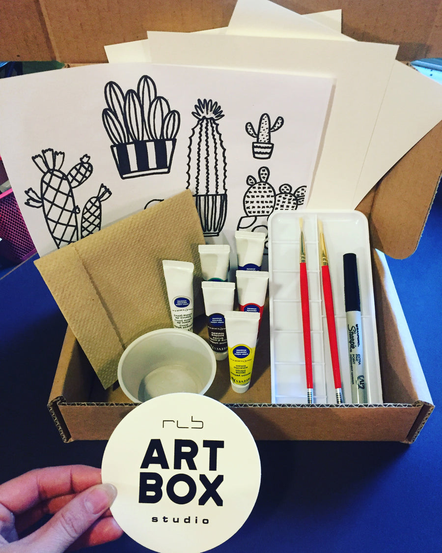 DIY Cacti Painting-Art Kit Delivered - RLB ARTBOX STUDIO