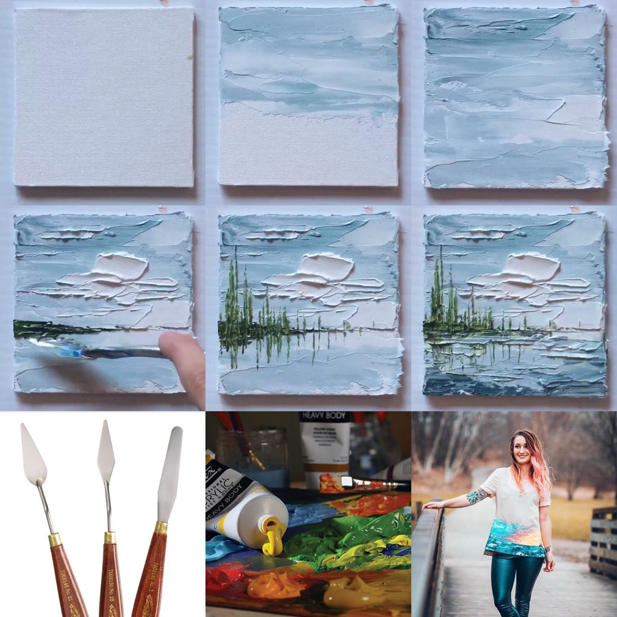 DIY Palette Knife Painting Kit - RLB ARTBOX STUDIO