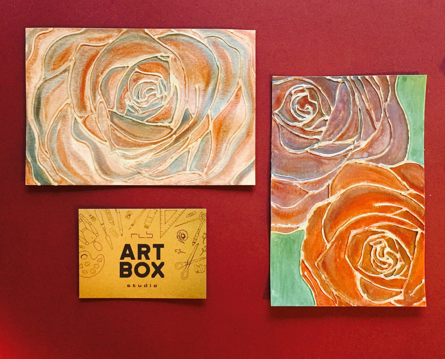 DIY Watercolor Roses-Art Kit Delivered - RLB ARTBOX STUDIO