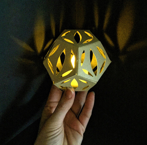 Paper Sculpture, Paper Lantern, Art Project, Art Kit, Art Subscription