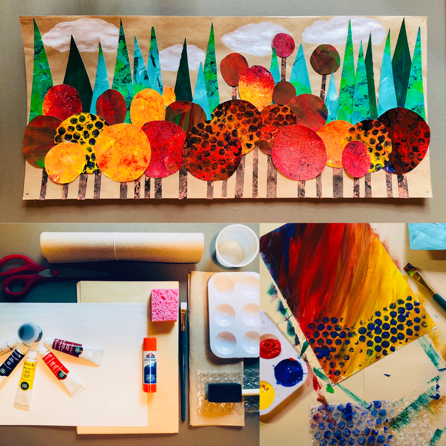 DIY Painted Forest-Art Project in a Box - RLB ARTBOX STUDIO