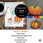 DIY Fall Pastel Art