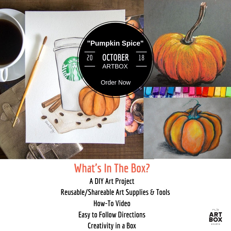 DIY Fall Pastel Drawings - RLB ARTBOX STUDIO