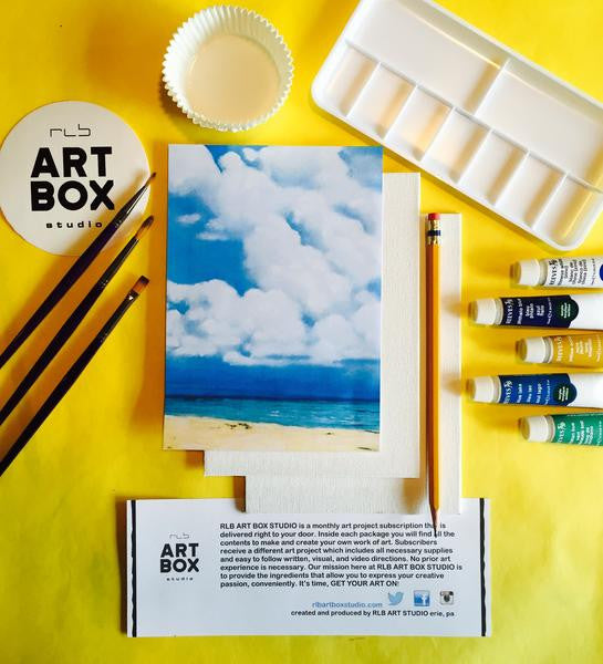A full art project kit for all ages. Art Projects and Craft Boxes Delivered to YOU.