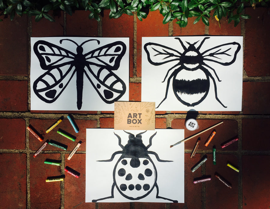 DIY Paint & Print Insects-Art Kit Delivered - RLB ARTBOX STUDIO