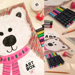 DIY Polar Bear Painting- Kids Art Kit - RLB ARTBOX STUDIO