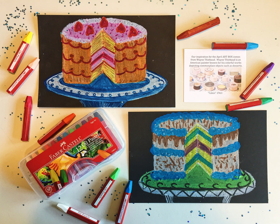 DIY Mixed Media Cake Art-Art Kit Delivered - RLB ARTBOX STUDIO