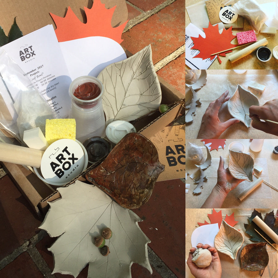 DIY Clay Leaf Bowl-Art Kit Delivered - RLB ARTBOX STUDIO
