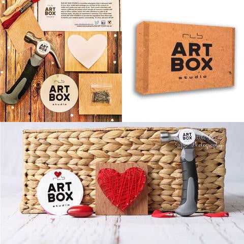 DIY String Heart-Art Kit Delivered - RLB ARTBOX STUDIO