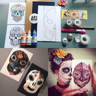 DIY Paper Sugar Skulls: Art Kit Delivered - RLB ARTBOX STUDIO