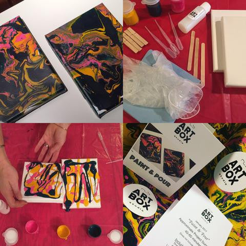 ARTBOX, Acrylic Paint, Acrylic Pour, Artist Kit, Art Project, Art Subscription, Art Making, Art Kit, Art Supplies, Art Materials, Art Class, Painting, Painting Tools, Create, Hobby, DIY art project, CraftBox, Crafting, Inspiration, Inspire, Fun, RLB ARTBOX STUDIO, ERIE PA