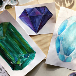 DIY Watercolor Art | Jewels & Gem Paintings - RLB ARTBOX STUDIO