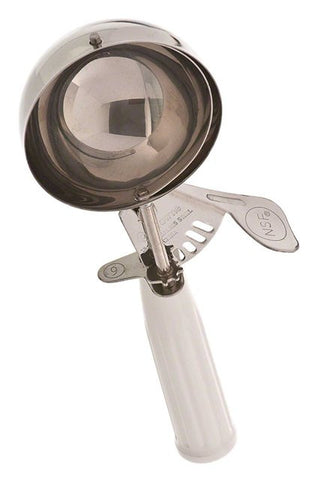 Browne 4.77OZ DIsher With White Poly Handle