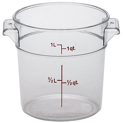 Cambro 1QT Round Clear Camwear Food Storage Box