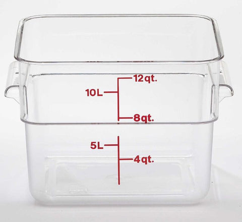 Cambro 12QT Square Clear Camwear Food Storage Box