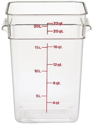Cambro 22QT Square Clear Camwear Food Storage Box