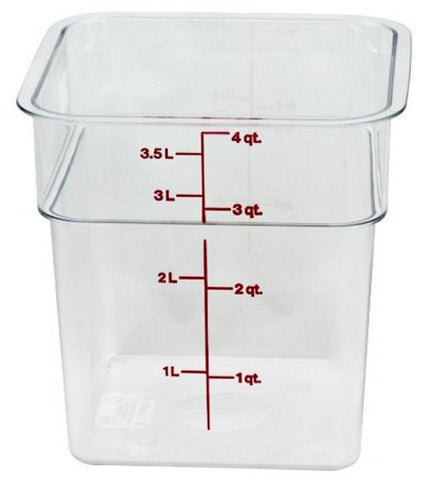 Cambro 4QT Square Clear Camwear Food Storage Box