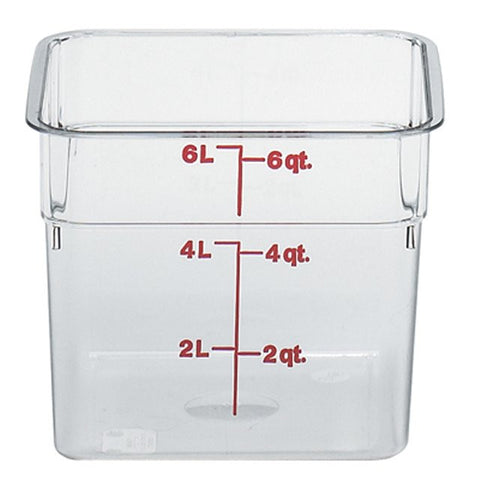Cambro 6QT Square Clear Camwear Food Storage Box