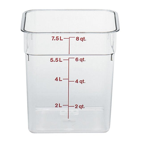 Cambro 8QT Square Clear Camwear Food Storage Box